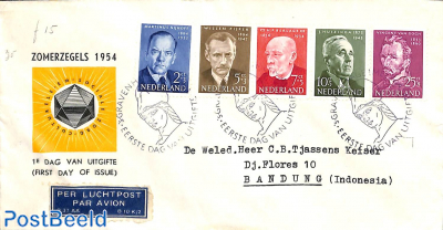 Famous persons FDC, closed flap, typed address