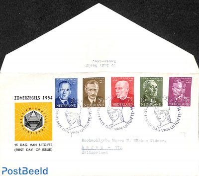 Famous persons FDC, open flap, typed address