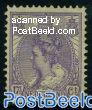 17.5c violet, Stamp out of set