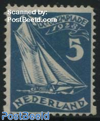 5c, Sailing, Stamp out of set