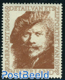25+8c, Rembrandt self portrait, Stamp out of set