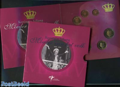 Thematic Coin Yearset Netherlands 2004 - Queen Juliana