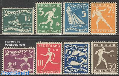Olympic games Amsterdam 8v