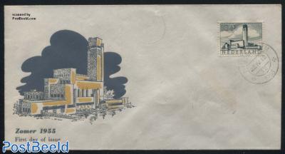 10+5c, City Hall Hilversum (architect Dudok) 1v, FDC