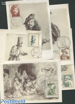 Rembrandt, Set of 5 Maximumcards