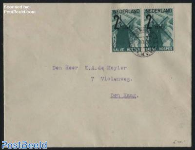 ANVV Mill stamp on letter (2x)