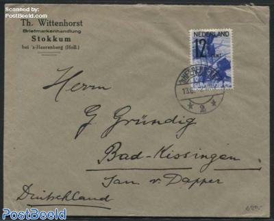 ANVV 12.5c stamp on cover from s-Heerenberg to Bad Kissingen