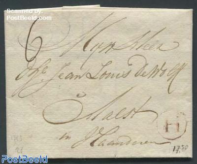 Folding letter to Aalst in Vlaanderen