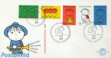 Child welfare, Dick Bruna 5v FDC