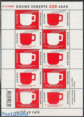 250 years Douwe Egberts minisheet