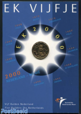 5 Gulden 2000 European Football Championships in folder