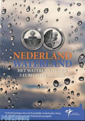 Proofset 5 Gulden Waterland
