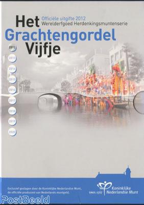 Proofset 5 Gulden, Amsterdam Grachtengordel