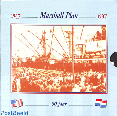 10 gulden Marshall plan, FDC set