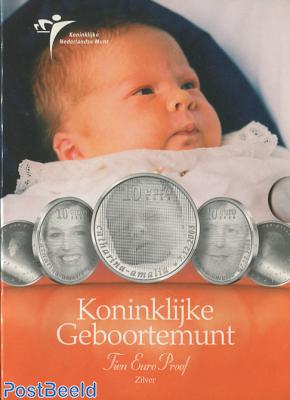 Proofset 10 Gulden, Princess Amalia