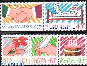 Greeting stamps 5v