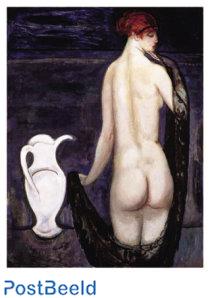 'Vrouwelijk naakt op de rug gezien'