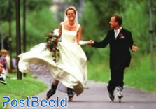 'Inline Skate Couple Get Married'