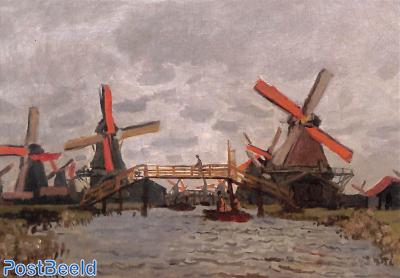 Claude Monet, Windmills Zaandam, 1871