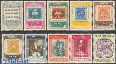 Stamp centenary 10v
