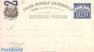 Postcard 2c on 5c
