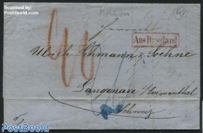 Letter from moscow to Langenau (CH)