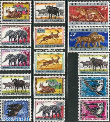 Animals overprints 15v