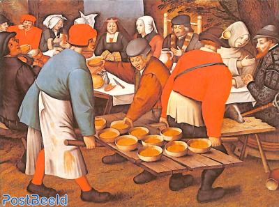 P. Breughel the Younger, Wedding feast