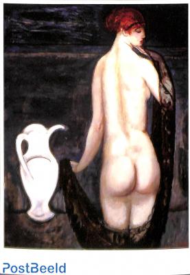 Jan Sluijters, Vrouwelijk naakt op de rug gezien, 1919