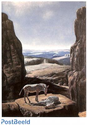 Carel Willink, Zebra's in zwarte rotskloof 1959