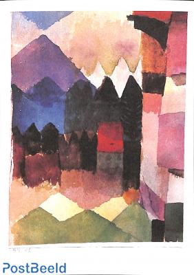 Paul Klee, Föhn im Marc' schen Garten
