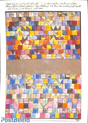 Paul Klee, Einst dem Grau der Nacht enttaucht 1918
