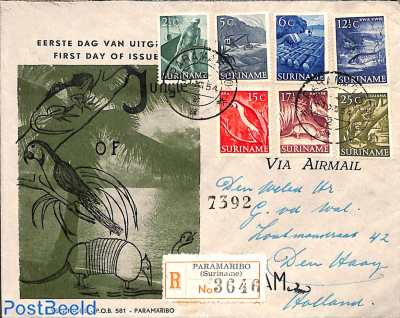 Definitives 7v, FDC Verbrugge cover
