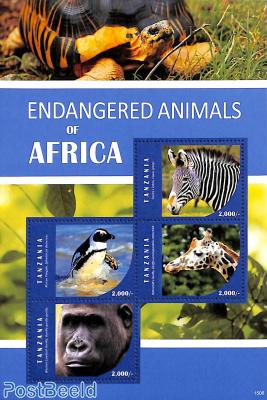 Endangered animals 4v m/s