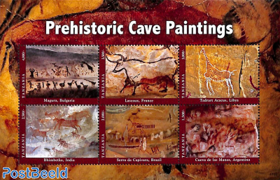 Prehistoric cave paintings 6v m/s