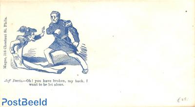 Civil war envelope, Jeff Davis