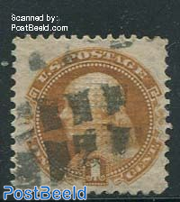1c Ocre, used