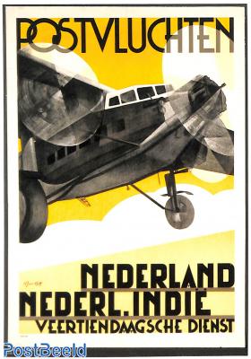 Postvluchten Nederland Nederl. Indie
