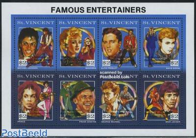 Elvis Presley 15th death anniv., Overprints 8v m/s