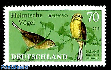 Europa, domestic birds 1v