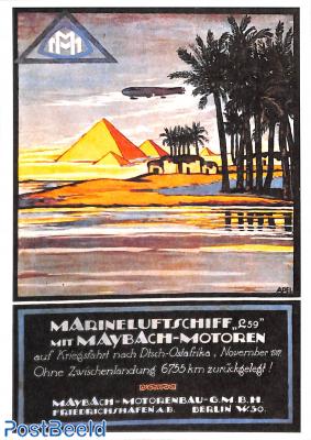 Marineluftschiff L 59 mit Maybach motoren