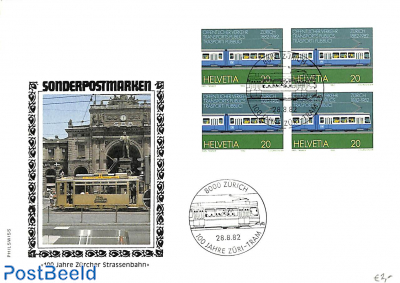 100 years Zürich tramway, cover