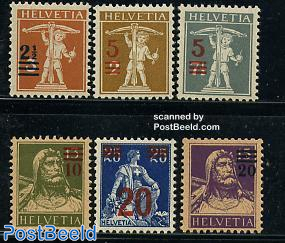 Definitives overprinted 6v