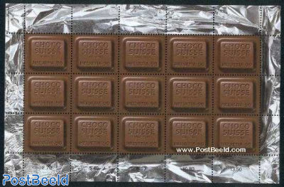 Choco Suisse minisheet (fragrant stamps)
