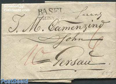 Folding letter from Basel