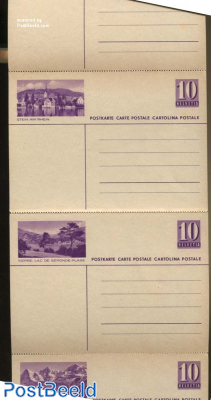 Illustrated Postcard strip of 7 cards